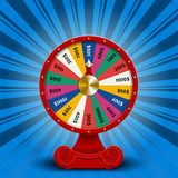 Fate wheel, 3D roulette vector illustration. Royalty Free Stock Photography