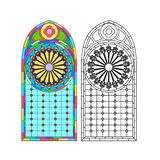 Gothic windows. Vintage frames. Church stained-glass windows royalty free stock image