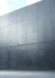 Image presenting a modern polish, concrete wall Stock Images