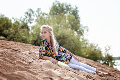 Image of pretty young girl on vacation in park Royalty Free Stock Images