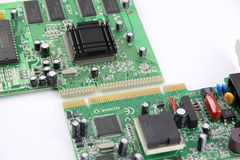 Image processing the Computer equipment circuit board. Stock Image