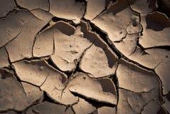 Image proche de boue criquée Image stock