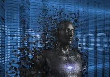 Image produite par Digital de l'humain 3d Photographie stock libre de droits