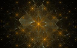 Image produite par Digital faite en fractale colorée Image stock