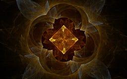 Image produite par Digital faite en fractale colorée Photos stock