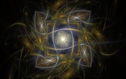 Image produite par Digital faite en fractale colorée Photographie stock libre de droits