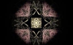 Image produite par Digital faite en fractale colorée Photographie stock