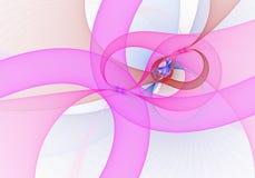 Image produite par Digital Fractale colorée, modèle tordu élégant et sensible de rubans photo libre de droits