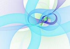 Image produite par Digital Fractale colorée, modèle tordu élégant et sensible de rubans images libres de droits