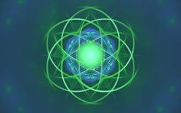 Image produite par Digital sous forme de formes géométriques abstraites de diverses nuances et de couleurs pour l'usage dans la c illustration libre de droits