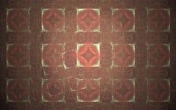 Image produite par Digital sous forme de formes géométriques abstraites de diverses nuances et de couleurs pour l'usage dans la c illustration stock