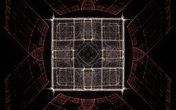 Image produite par Digital sous forme de formes géométriques abstraites de diverses nuances et de couleurs pour l'usage dans le w Photographie stock libre de droits