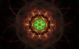 Image produite par Digital sous forme de formes géométriques abstraites de diverses nuances et de couleurs pour l'usage dans le w Photos libres de droits