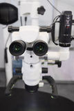 The image of the professional medical laboratory microscope Stock Photo