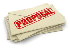 Image of Proposal letters Royalty Free Stock Photo