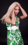 Image of provocative blonde Royalty Free Stock Photos
