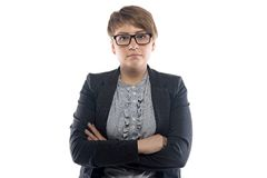 Image of pudgy business woman with short hair Stock Photography