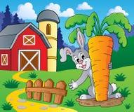 Image with rabbit theme 2 Stock Photography
