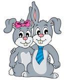 Image with rabbit theme 3 Stock Photo