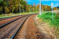 Image of railway tracks Royalty Free Stock Image