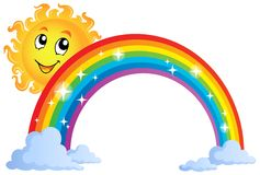 Image with rainbow theme 8 Stock Photography
