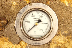 Oven thermometer. The image rapresent a detail of broken oven thermometer Stock Photos
