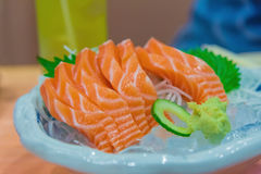 Image of raw and fresh salmon sliced. Stock Photography