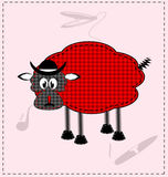 Image of a red-black lamb Stock Photography