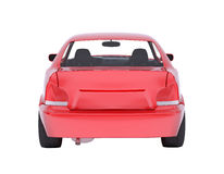 Image of red car on white Royalty Free Stock Images