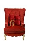 An image of a red chair Stock Photography