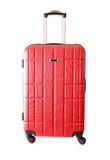 Image of red elegant travel luggage isolated on white Stock Image