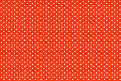 Image of red fabric with white polka dots Stock Image