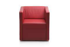 Image of a red leather armchair Royalty Free Stock Image