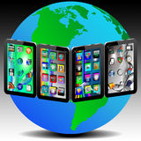Tablets and Earth Royalty Free Stock Photos