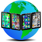 Tablets and Earth Royalty Free Stock Image