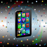 Tablet and Icons Stock Images