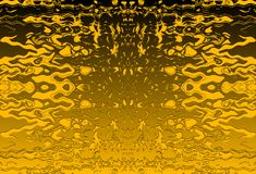 DIFFUSED BLACK AND YELLOW BACKGROUND WITH PATTERN. Image of a repeat pattern with yellow pattern and diffused yellow and black background stock illustration