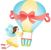 Flying fairy hot air balloon Royalty Free Stock Photo