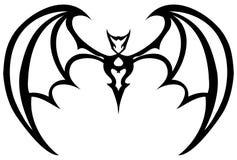 Isolated black and white stylized bat stock photos