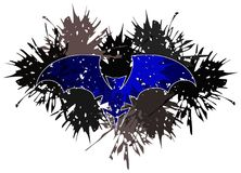 Colorful artistic bat made with spots isolated. Image representing a stylized bat made with spots. This image can be used in different projects, not only for Royalty Free Stock Photo