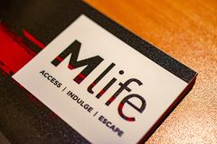 Mlife Card Access Indulge Escape. This image represents a card from Las Vegas Hotels membership stock images
