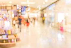 Image of retail Shop Blurred background. Royalty Free Stock Images