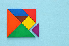 image of retro tangram puzzle royalty free stock photos