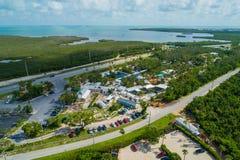Image a?rienne du th??tre des cl?s de la Floride de mer photos libres de droits