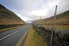 Image of Road in Cumbria, England. Road in Lake District, Cumbria, England Stock Photography