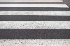 Road marking pedestrian crossing close-up. Image of road marking pedestrian crossing close-up Royalty Free Stock Photos