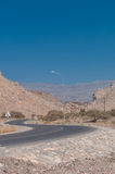 Image of a road on mountain Jebel Akhdar to Jebel Shams in Oman Royalty Free Stock Image