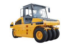 The image of road roller Stock Photo