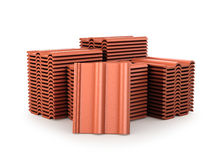 Image of roof tiles. 3D illustration Stock Photography