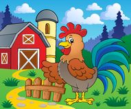 Image with rooster theme 2 Royalty Free Stock Photos
